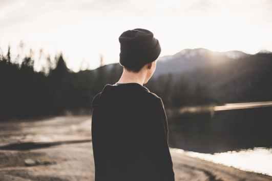 alone beanie boy calm